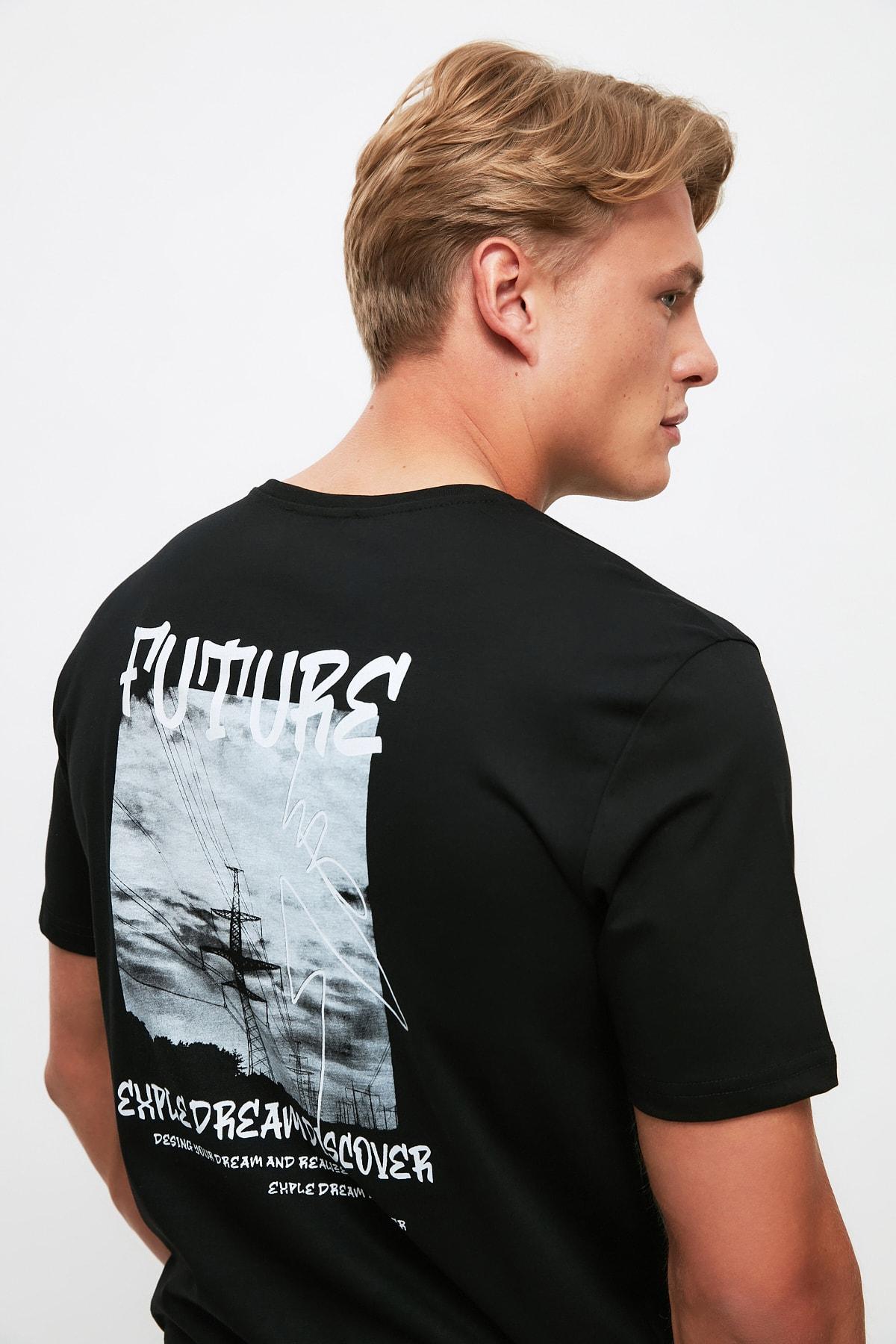تی شرت فانتزی برند ترندیول مرد رنگ مشکی کد ty107186905