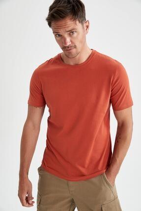 فروش تیشرت مردانه ترک مجلسی برند دفاکتو رنگ نارنجی کد ty110708485