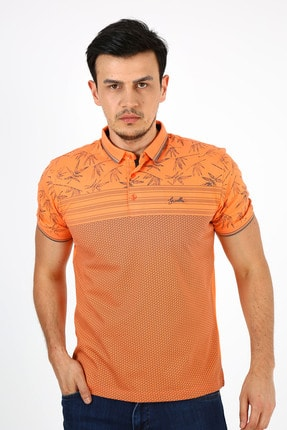 پولوشرت جدید مردانه شیک برند Ette رنگ نارنجی کد ty112069695