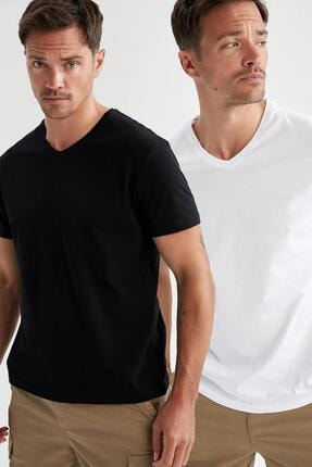 خرید انلاین تی شرت جدید مردانه شیک برند دفاکتو ترکیه رنگ نقره ای کد ty113282708