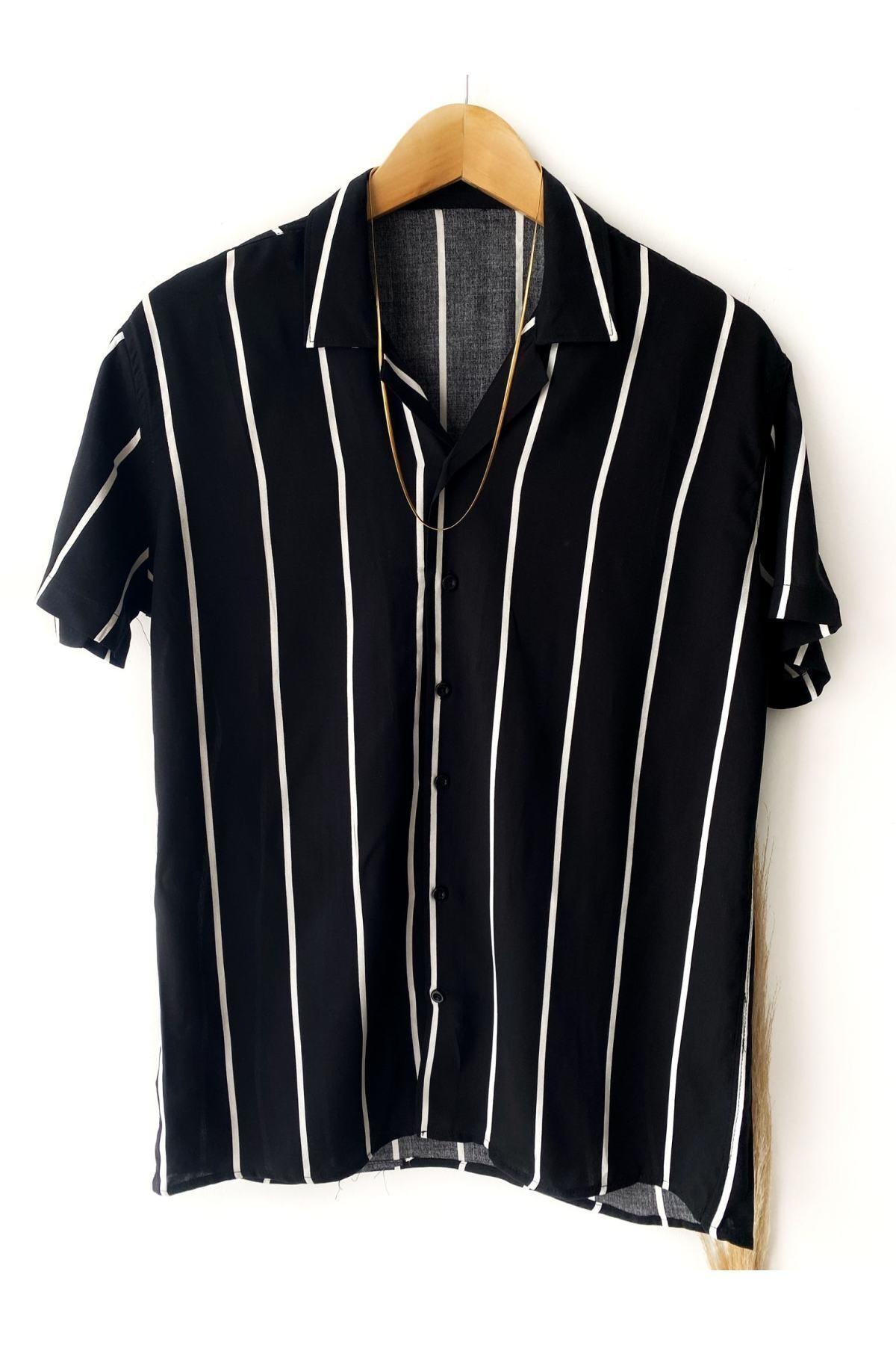 پیراهن کلاسیک مردانه طرح دار برند Hazhers رنگ مشکی کد ty113841210