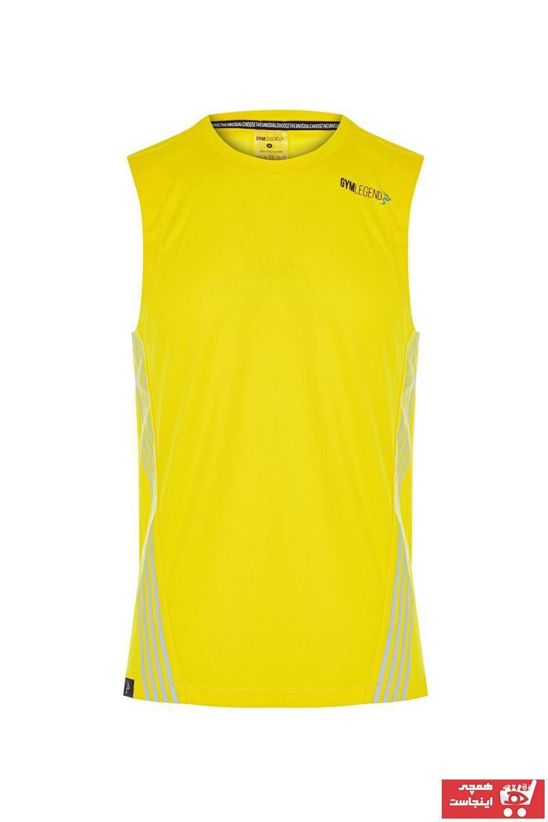 خرید اینترنتی تاپ ورزشی مردانه برند Gymlegend رنگ زرد ty114037574