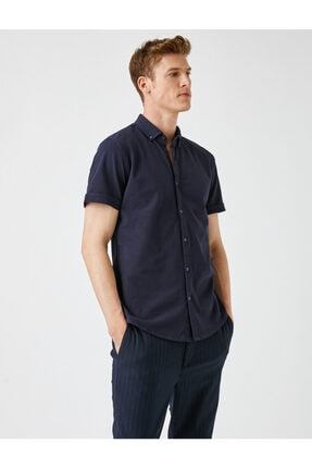 فروش پیراهن مردانه فانتزی برند کوتون رنگ لاجوردی کد ty114528688