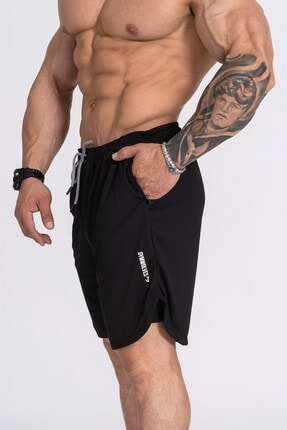 شلوارک مردانه مدل برند Gymwolves رنگ مشکی کد ty117149625