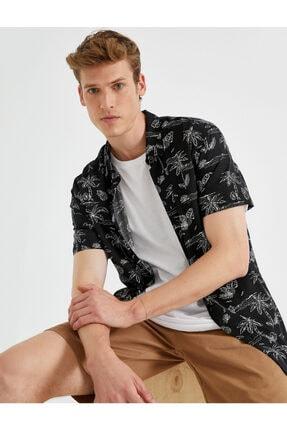 پیراهن مردانه ساده برند کوتون رنگ مشکی کد ty117671698