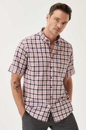خرید اینترنتی پیراهن مردانه از استانبول برند آلتین ییلدیز رنگ زرشکی ty120923848