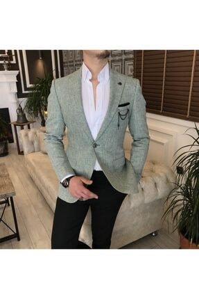 کت تک مردانه اصل مجلسی برند TerziAdemAltun رنگ سبز کد ty121919568