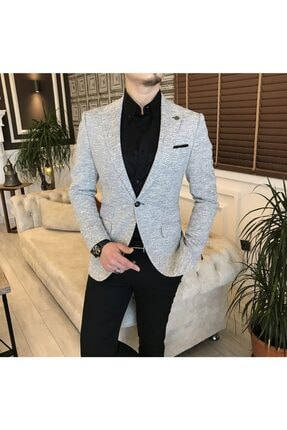 کت تک مردانه فروش برند TerziAdemAltun رنگ نقره ای کد ty121923795