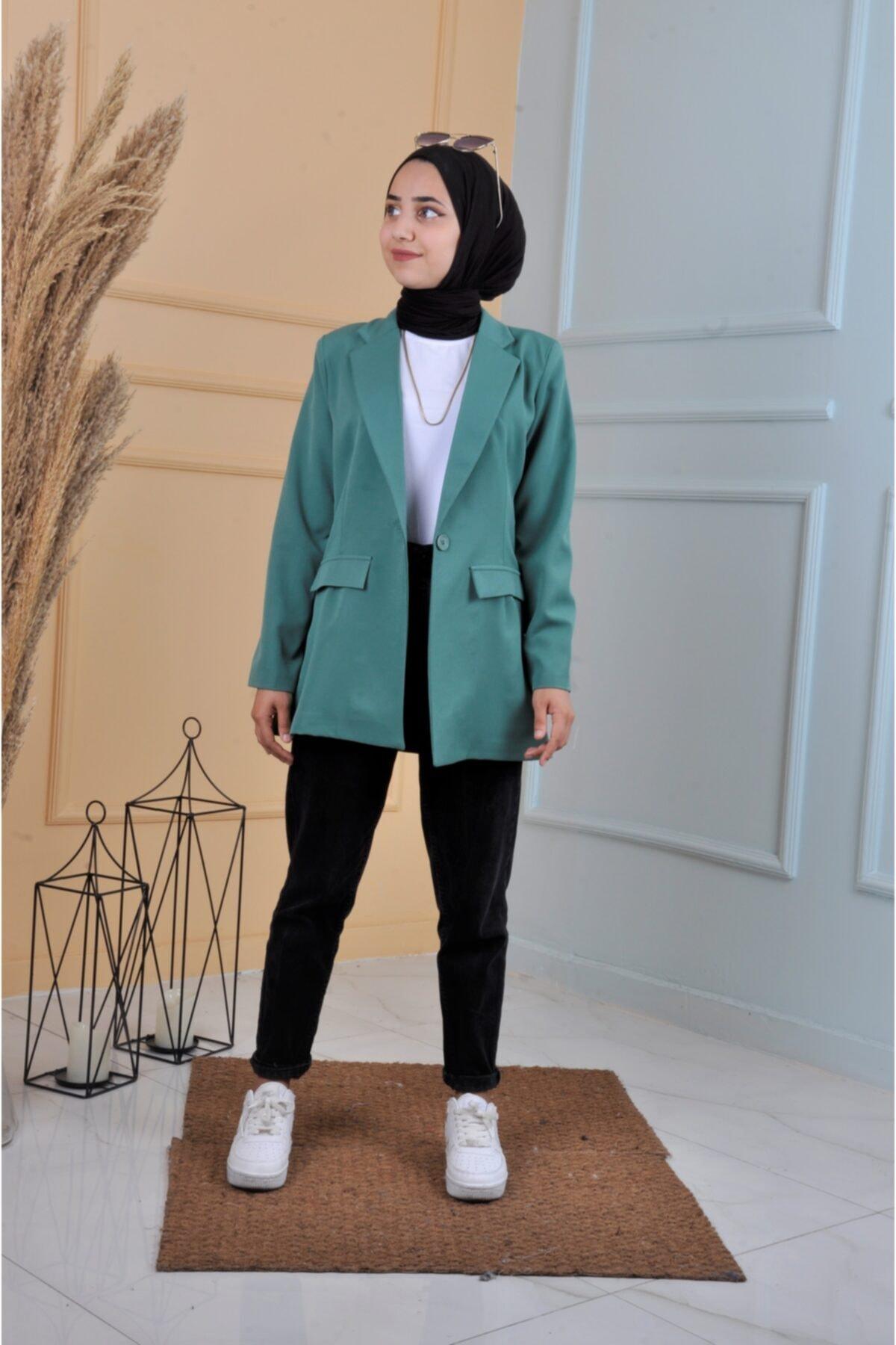 خرید اینترنتی کت تک خاص مردانه برند ucuzaverme رنگ سبز کد ty122203419