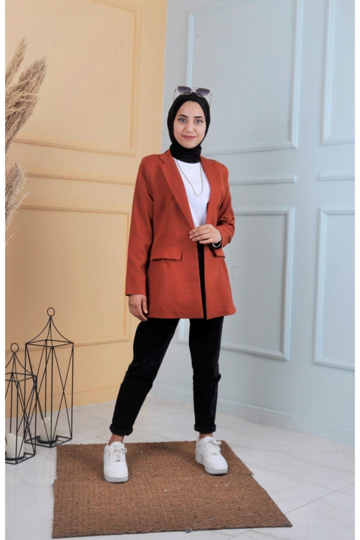 خرید اینترنتی کت تک مردانه از استانبول برند ucuzaverme رنگ نارنجی کد ty122310963