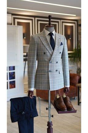 کت تک مردانه جدید برند TerziAdemAltun رنگ نقره ای کد ty122326899