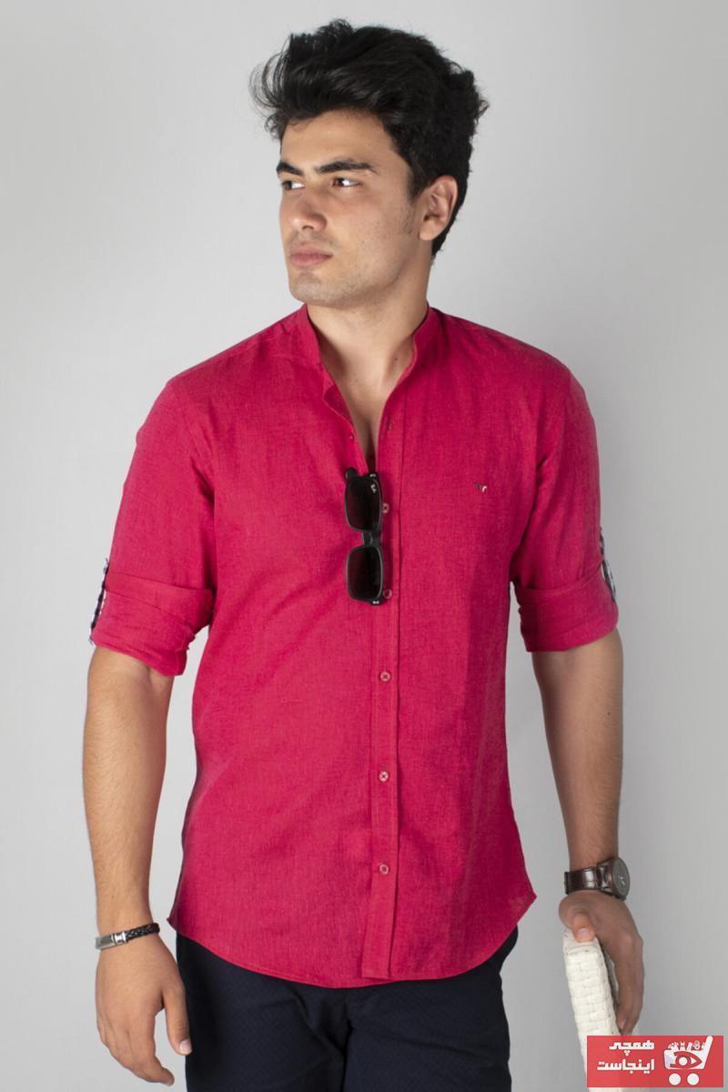 خرید نقدی پیراهن پاییزی مردانه برند DeepSEA رنگ زرشکی ty29835659