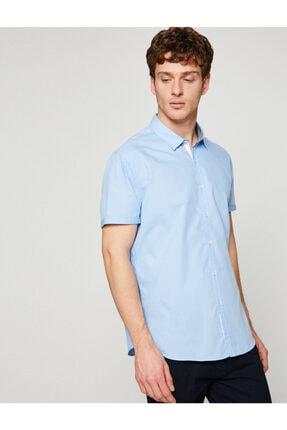 خرید پیراهن مردانه شیک مجلسی برند کوتون رنگ آبی کد ty2986105