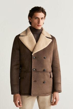 خرید نقدی ژاکت چرم مردانه ترک برند MANGO Man رنگ قهوه ای کد ty32508661