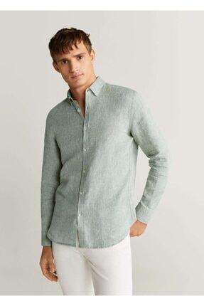 پیراهن خاص مردانه برند MANGO Man رنگ خاکی کد ty35634621