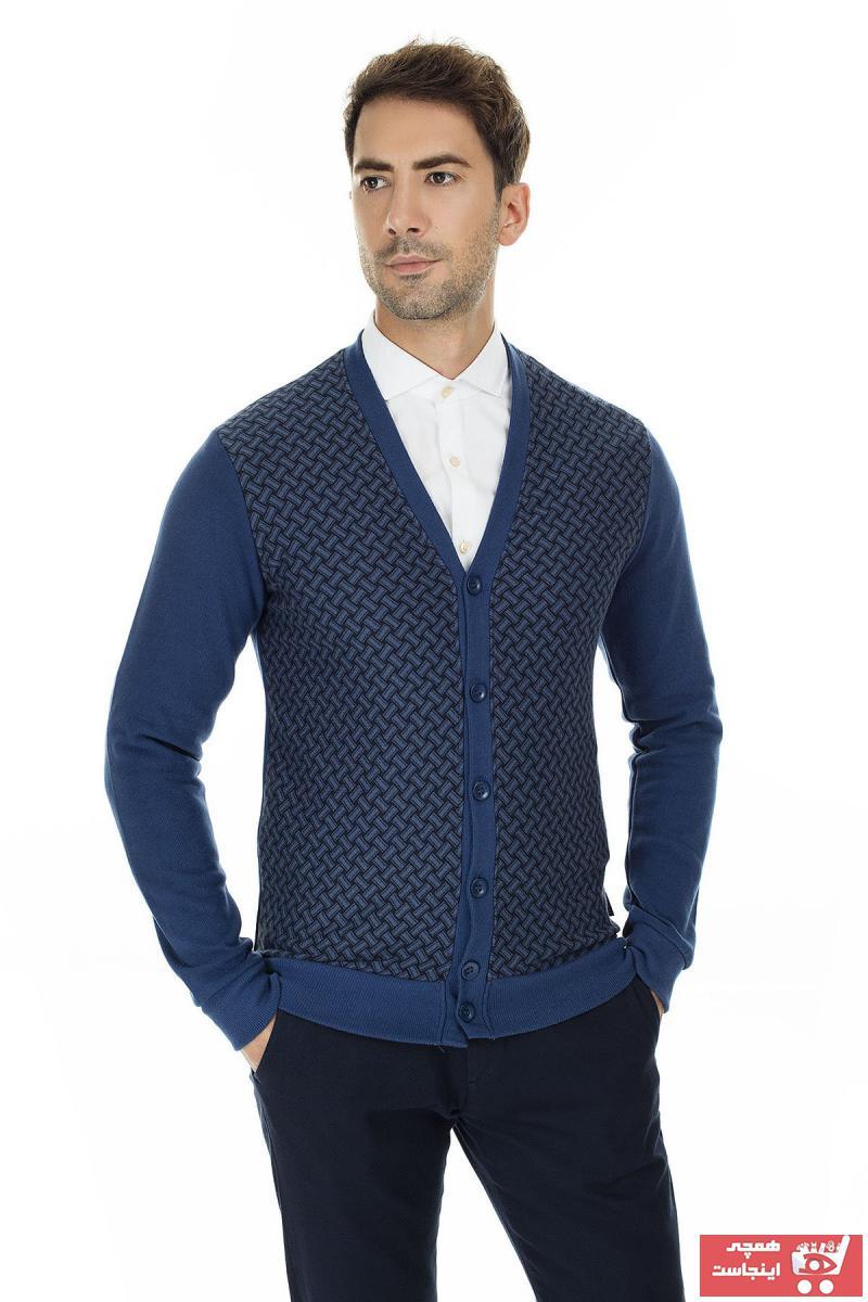 فروش هودی مردانه جدید برند Buratti رنگ لاجوردی کد ty35718634
