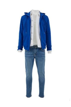 فروش ژاکت بافتی مردانه جدید برند ال تی بی رنگ آبی کد ty35892597