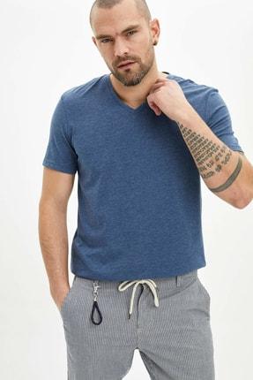 خرید اسان تیشرت مردانه زیبا برند دفاکتو رنگ لاجوردی کد ty36431833