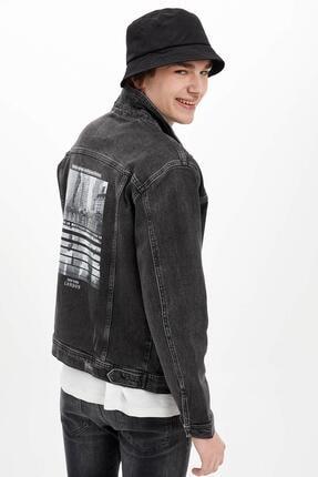 خرید ژاکت جین مردانه برند دفاکتو ترکیه رنگ مشکی کد ty36862009