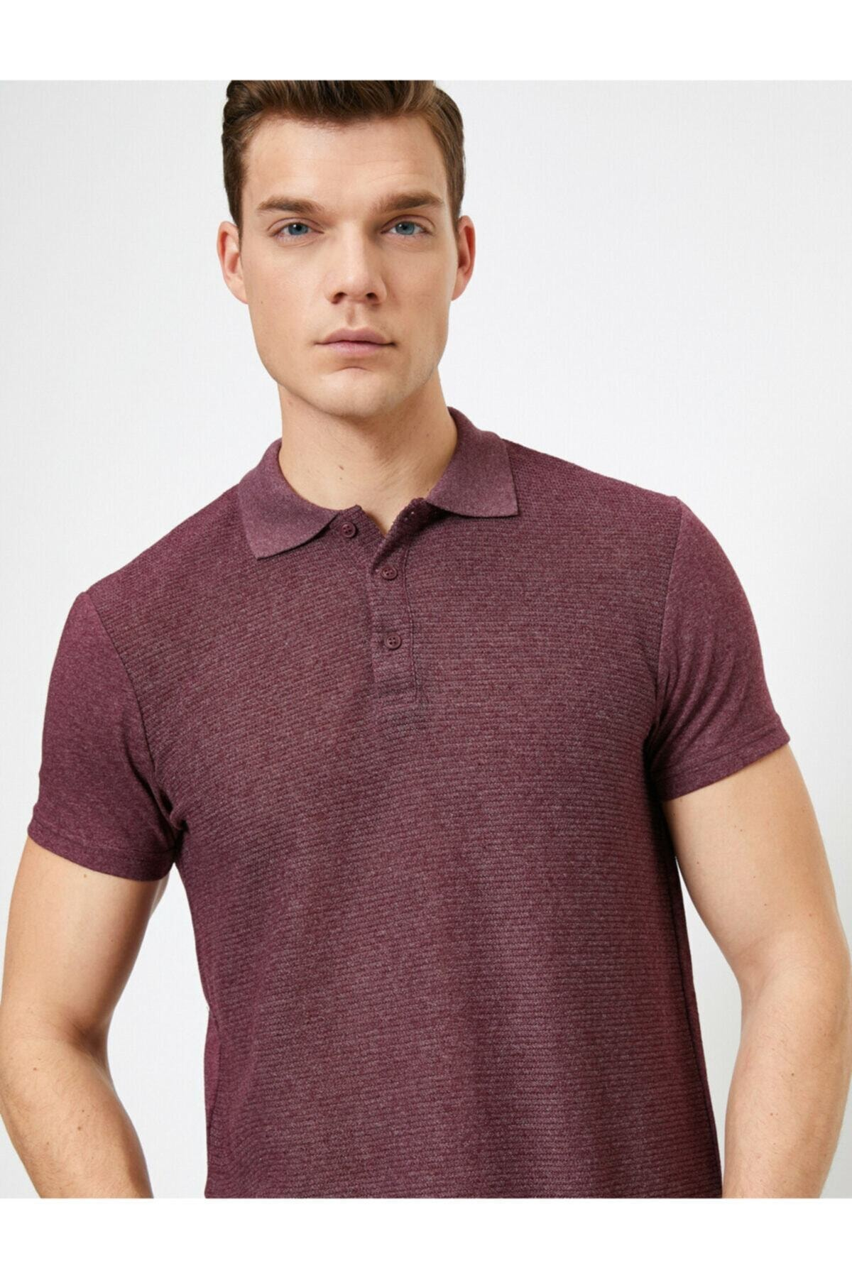 خرید پولوشرت 2021 مردانه برند کوتون رنگ زرشکی ty36903847