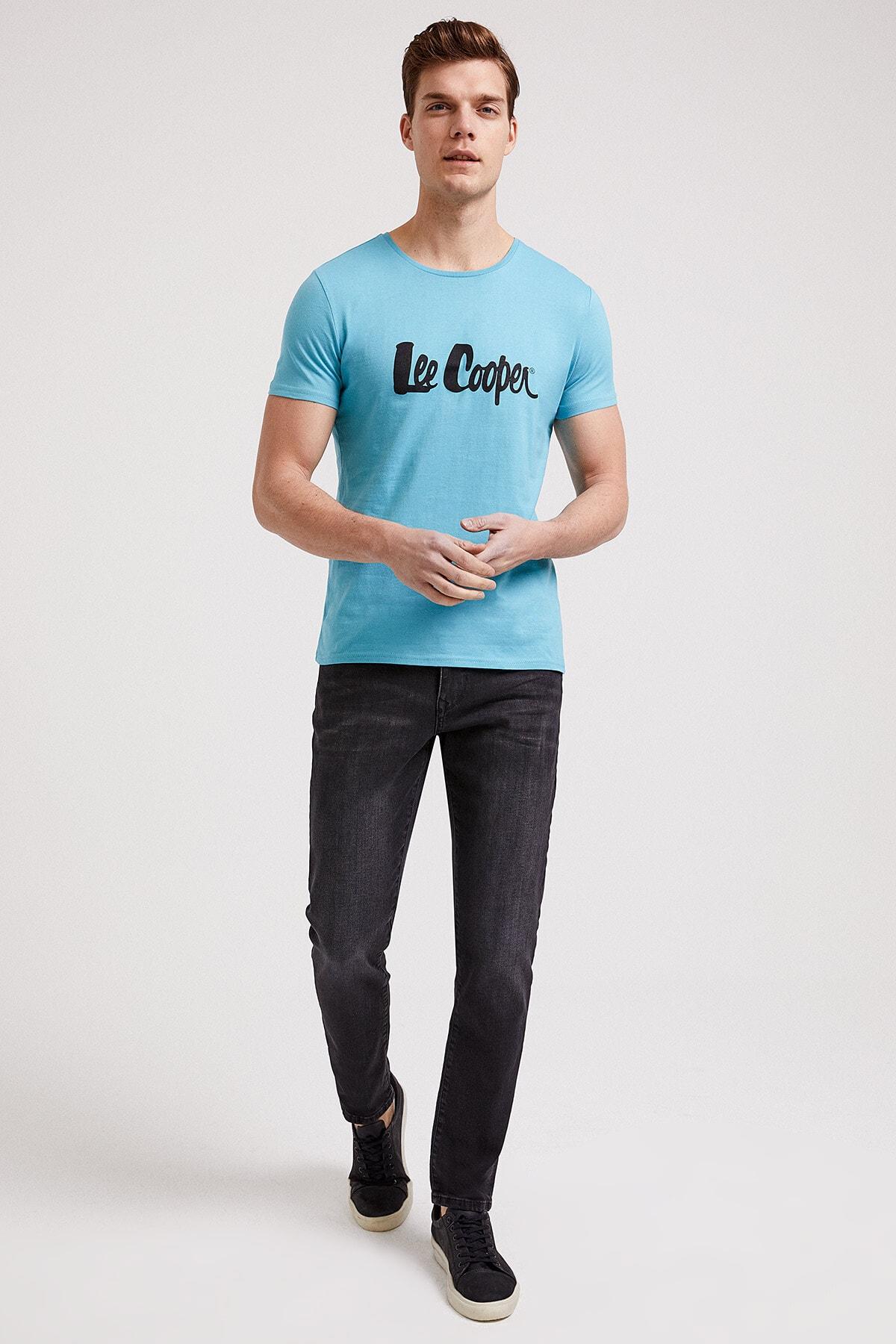 خرید اینترنتی تی شرت خاص برند Lee Cooper رنگ فیروزه ای ty40634006