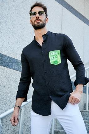 فروشگاه پیراهن مردانه تابستانی برند Sateen Men رنگ مشکی کد ty42664253