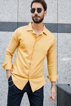 پیراهن بلند برند Sateen Men رنگ زرد ty42664357