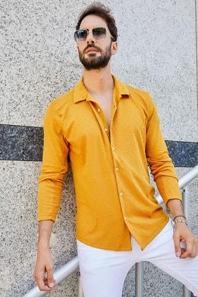 پیراهن مردانه ارزان برند Sateen Men رنگ زرد ty42664610