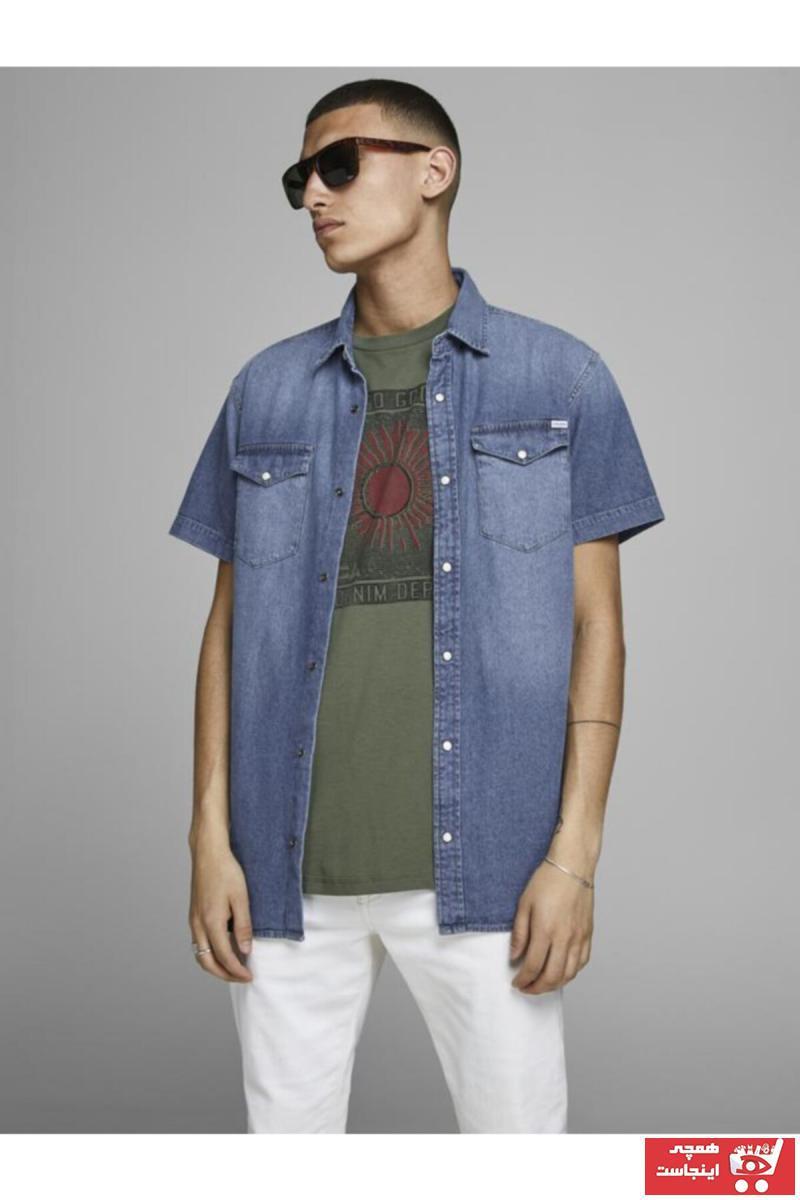 پیراهن 2021 مدل جدید برند Jack Jones رنگ آبی کد ty43219061