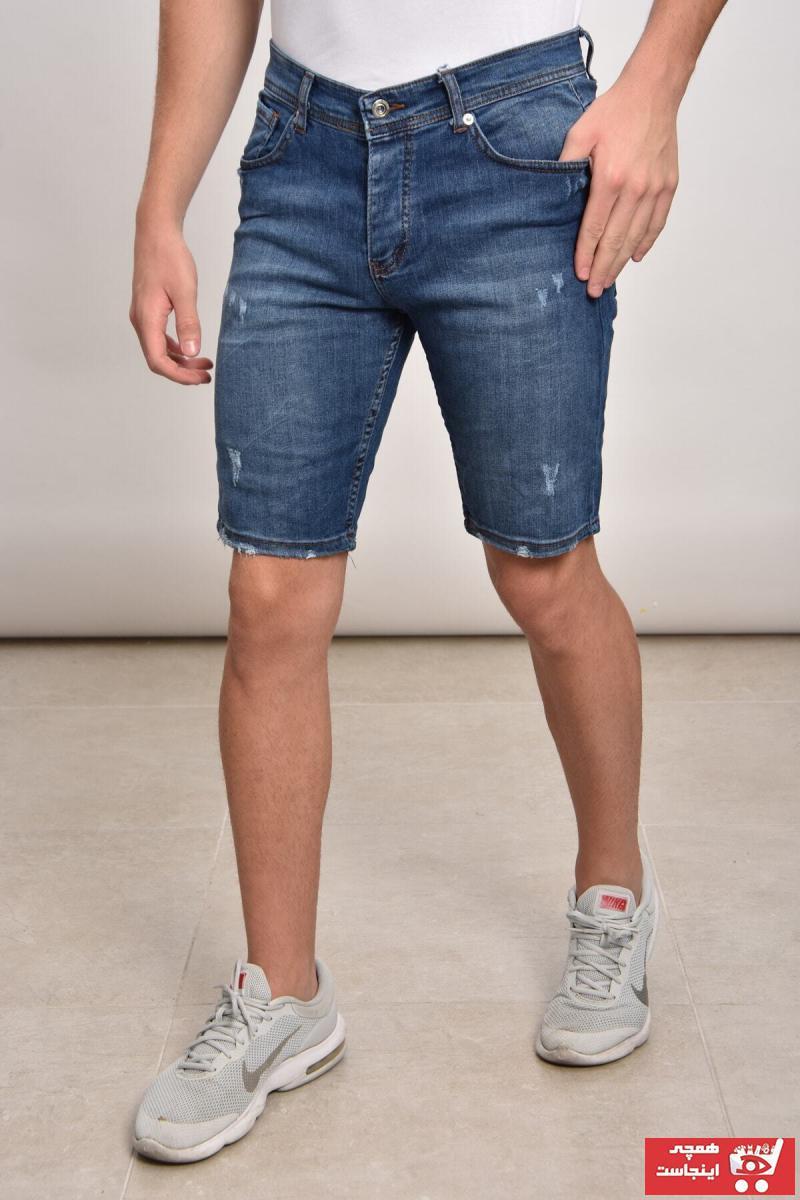 شلوارک مردانه فروشگاه اینترنتی برند Lose Jeans رنگ آبی کد ty43792245