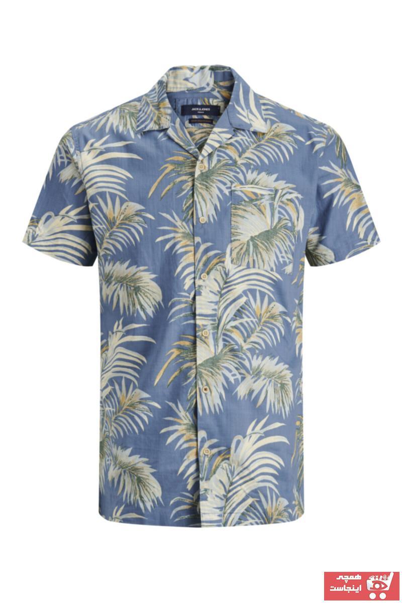خرید نقدی پیراهن شیک برند Jack Jones رنگ لاجوردی کد ty44122829