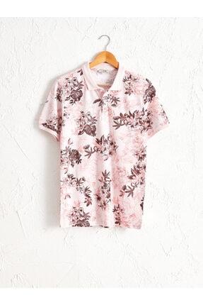 تی شرت مردانه فروشگاه اینترنتی برند ال سی وایکیکی رنگ صورتی ty44748479