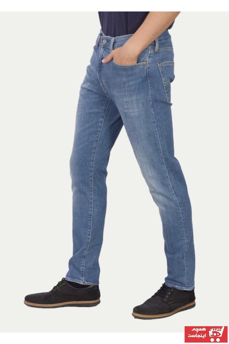 خرید شلوار جین مردانه ترک جدید برند لیوایز رنگ آبی کد ty4477701