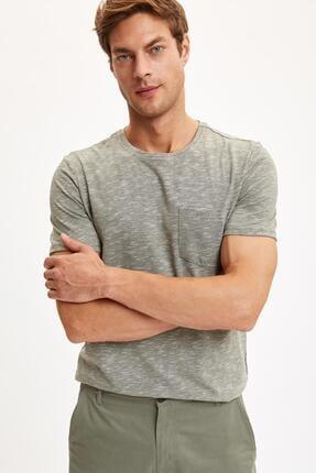 خرید مدل تیشرت مردانه برند دفاکتو رنگ خاکی کد ty45283482