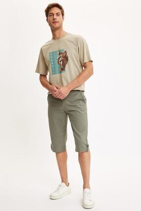 شلوارک مردانه حراجی برند دفاکتو ترکیه رنگ خاکی کد ty45283804