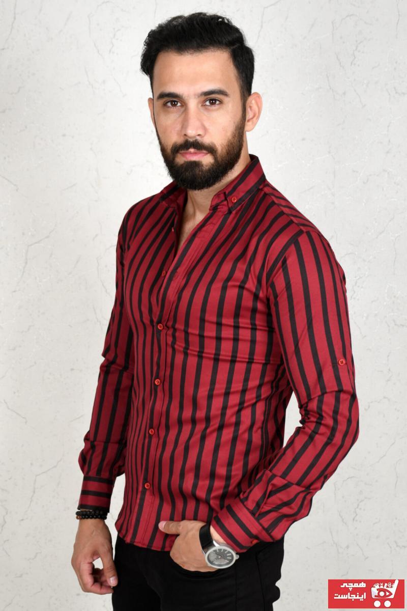 پیراهن طرح دار برند DeepSEA رنگ زرشکی ty45711343