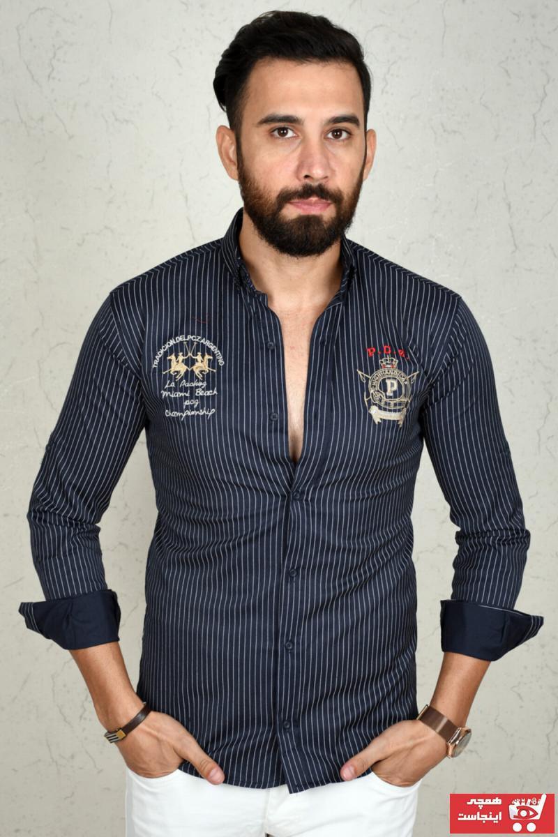 پیراهن مردانه نگیندار برند دیپسی رنگ لاجوردی کد ty45711376