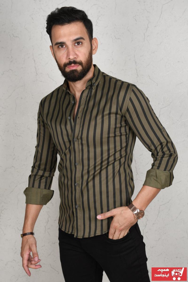 پیراهن 2021 مردانه برند دیپسی رنگ خاکی کد ty46086681