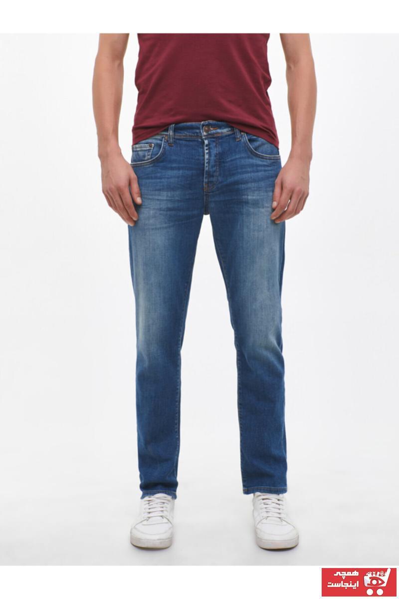 شلوار جین خاص مردانه برند ترک Ltb رنگ لاجوردی کد ty4915177