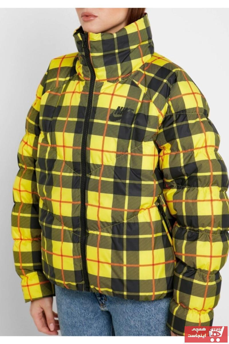خرید نقدی کاپشن ورزشی ارزان مردانه مارک نایک رنگ زرد ty50978634