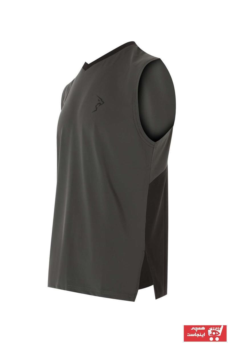 فروش رکابی ورزشی مردانه جدید برند Gymlegend رنگ نقره ای کد ty51849429