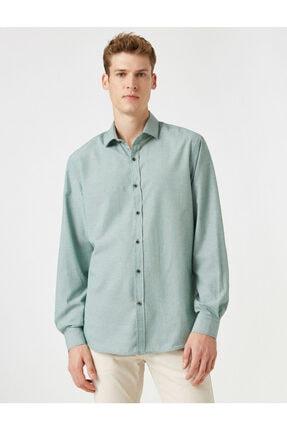 پیراهن مردانه ترک مجلسی برند کوتون رنگ سبز کد ty55781449