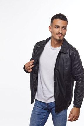 کاپشن چرم مردانه مدل 2020 برند Deriderim رنگ مشکی کد ty55805134