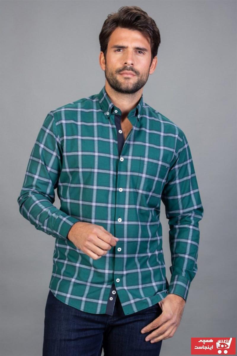 پیراهن مردانه زیبا برند Tudors رنگ سبز کد ty6072447
