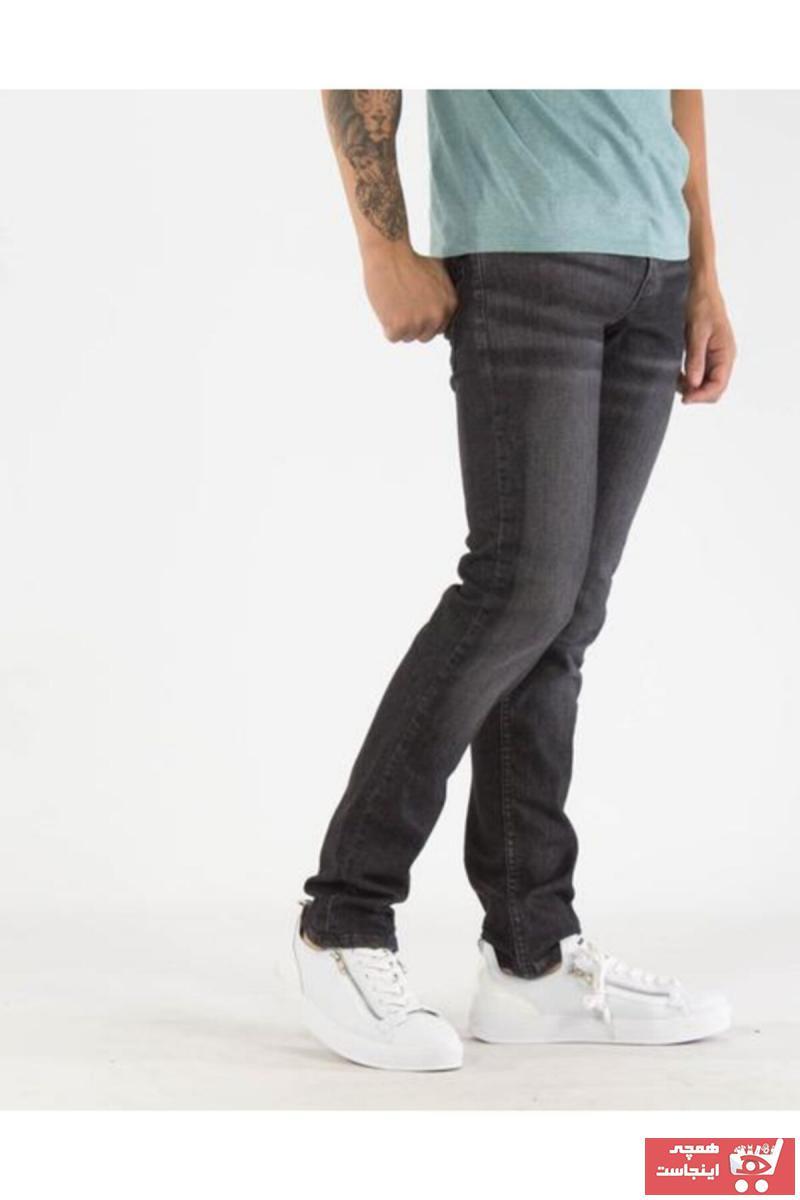 شلوار جین فانتزی مردانه برند لیوایز رنگ نقره ای کد ty6300953