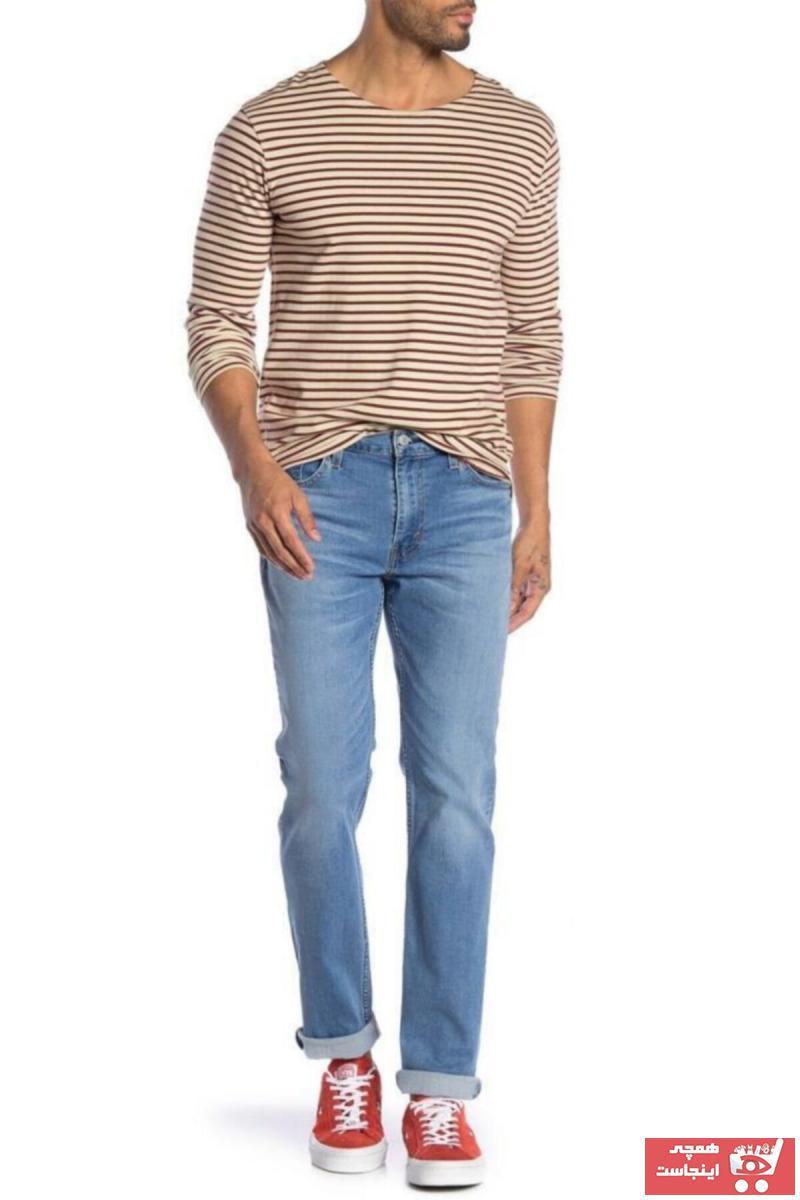 سفارش شلوار جین مردانه ارزان برند لیوایز رنگ آبی کد ty6509622