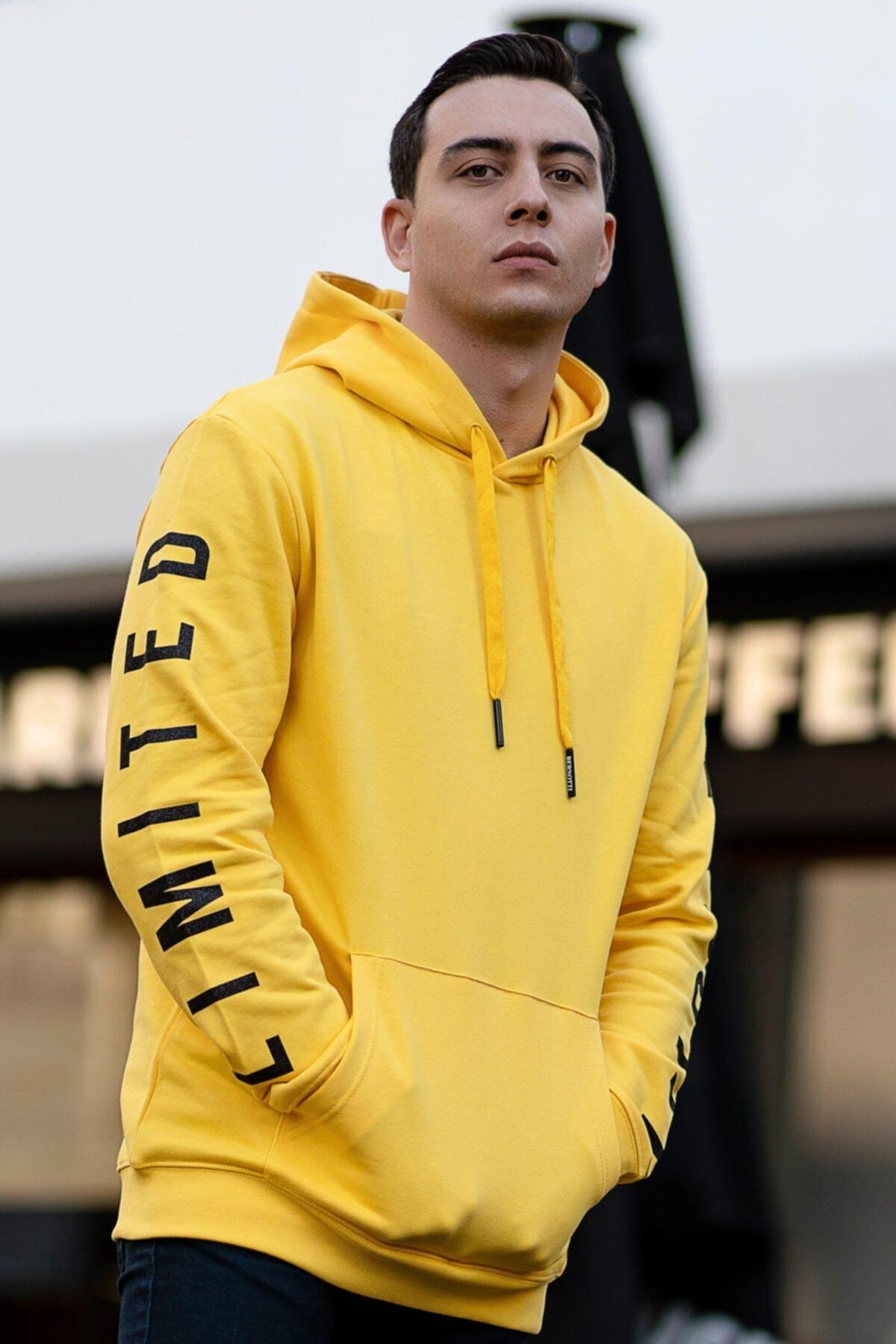 سویشرت مردانه خاص برند BERNOTTİ79 رنگ زرد ty68158798