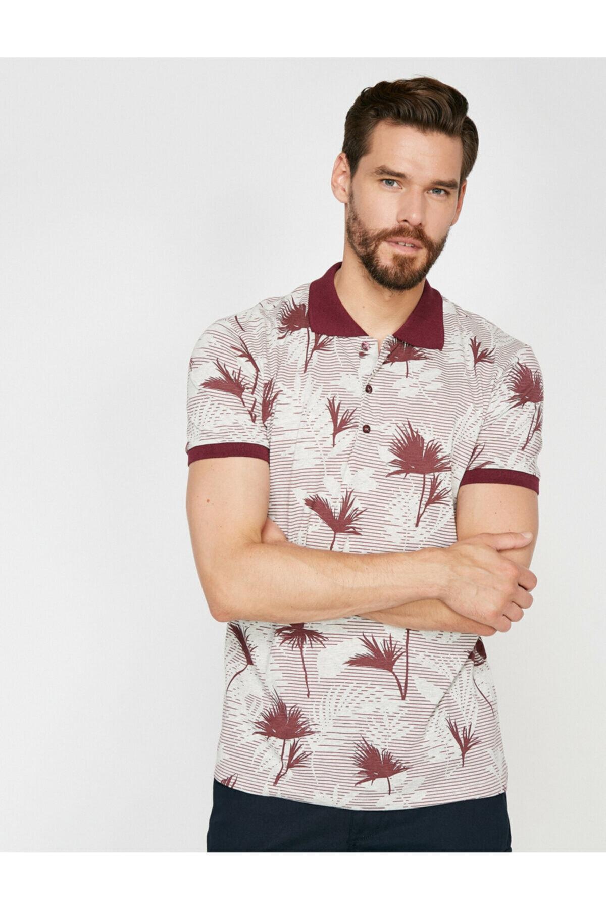 پولوشرت مردانه فروش برند کوتون رنگ زرشکی ty6899750