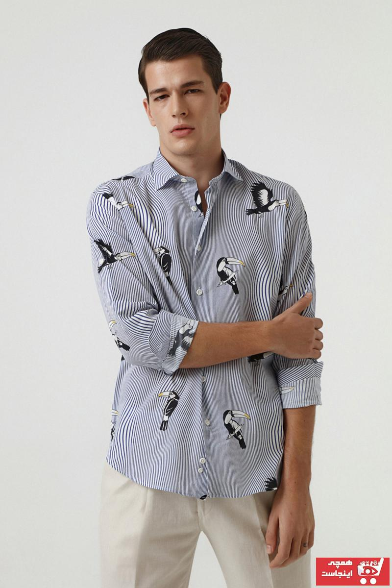پیراهن مردانه ترک برند DS Damat رنگ آبی کد ty70087956