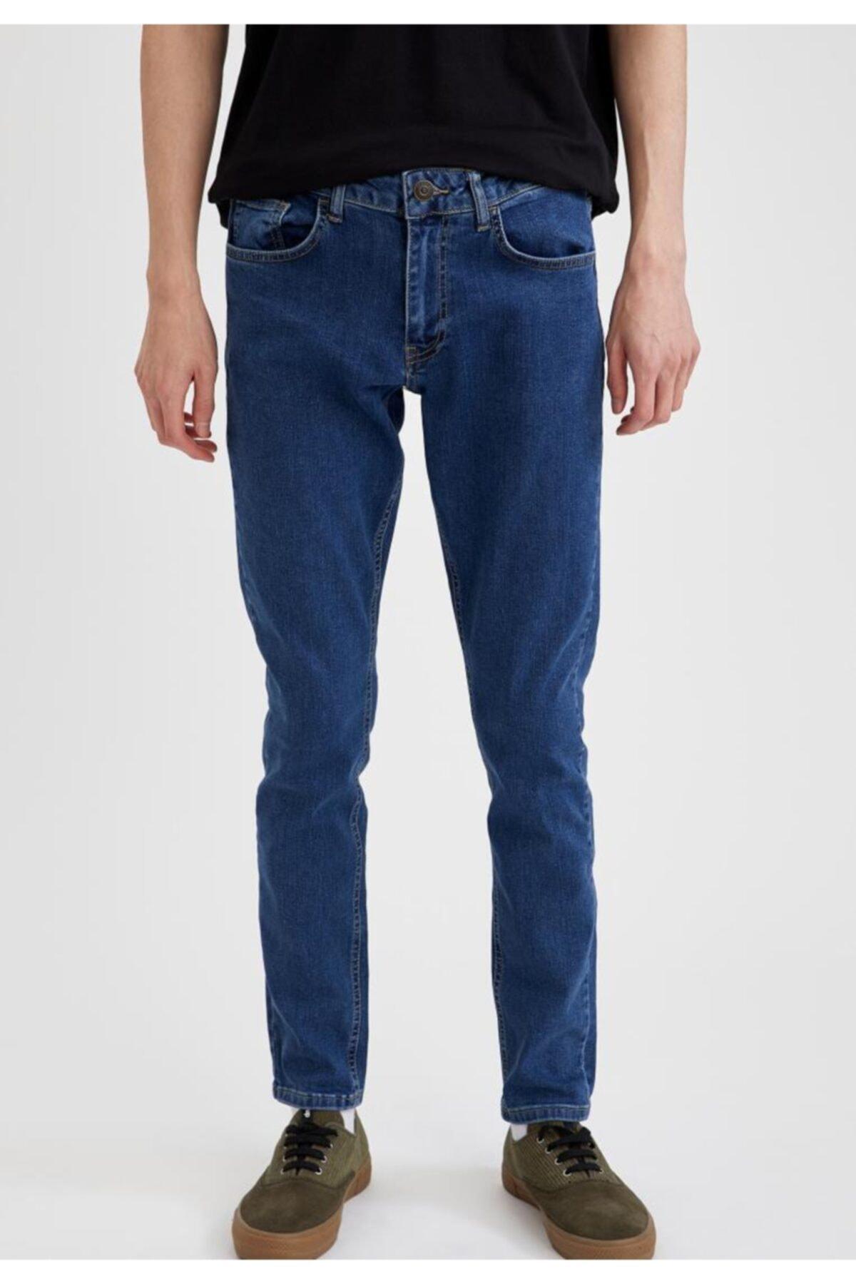 شلوار جین فانتزی مردانه برند دفاکتو ترک رنگ آبی کد ty71929553